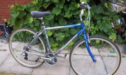 """Option by Giant bike for sale. 28"""" wheels. 21 speed. 19.5"""" frame. Seat suspension. Quick release front wheel. Good condition. Only $225. We are located in Orleans. See our list of other items for sale. First come, first served."""