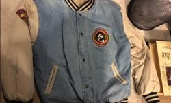 Original Disney Micky Mouse Jean Bomber Jacket Large unisex great condition
