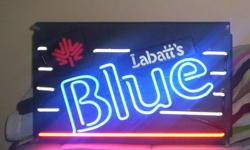 Original Labatt's gas tube neon sign from the 60 17Hx27L  $225.00 firm