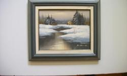 "Original Painting by R Thomas. 12 x 14"""