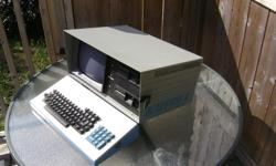 Up for sale is a lot of 3 vintage portable computers. The screen displays on all three computers are clean and sharp. Osborne 1 serial number... 10823....
