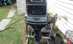 65 Evinrude Commercial engine with controls, no sparks sold as is .O.B.O.