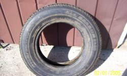 ONE tire for sale, like new condition P165/80R13 Motomaster AW+ all season tire, still has faded blue protectant on whitewall.  In Hepworth.