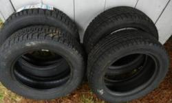 2 GOODYEAR NORDIC - BRAND NEW 2 DUNLOP STUDLESS - USED ONE SEASON TIRES ONLY - NO RIMS
