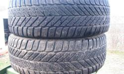 a pair of GGODYEAR WINTER TIRES 60.00 FOR THE PAIR NAMES JOHN CALL 818-3398 MY EMAILS ARE NOT WORKING THANKS