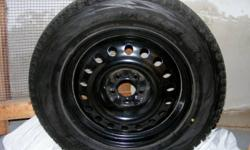 """P235/65R18 Blizzak DM-V1 Japanese winter tires. They fit Toyota Venza or other SUVs and trucks. Less then 8% tread wear, meaning more then 92% tread remaining. Installed on 4 quality 18"""" winter steel rims. Comes with special anti-theft bolts. Recommended"""