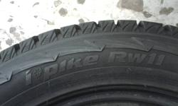 P255/55R18 Hankook I Pike RW 11 Snow Tires Like new 11/32 Measures Lowest Spot All Tires Worn Evenly New Price 1200.00 +tx