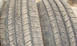 Two GoodYear Wrangler M&S P275/65R18 no plugs or patches.Lots of tread. $125 or best offer. Will take $100