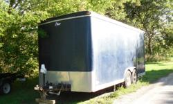 For Sale...2005 PACE 18ft Cargo Trailer featuring the following:   ·                    Heavy Duty Cargo Trailer ·                    18 feet in length and 7 feet high ·                    16 inch wheels - 8 bolt ·                    Drop-down backdoor ·