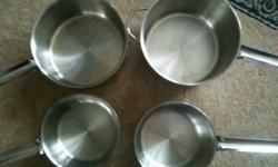 Why pay full price when you can get pots that in excellent, like new condition? I'm selling 4 pots with lids (various sizes), a 5L stock pot with lid and a 3L steamer for the super low price of $275! The pots were used four times, and the stock pot &