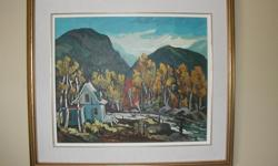 """Beautiful oil painting by listed artist Jacques Poirier. Nicely framed and in excellent condition. Overall size including frame is approximately 29"""" x 33"""". Near Smiths Falls. Telephone 613-283-4198."""