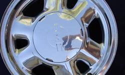 selling a pair of alum 16 inch alum chrome gmc chev 6 bolt wheels of chev truck or envoy, great shape, selling for 100 dollars for the pair, great for spares. sorry no caps.
