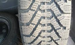 For sale 2 winter tires and rims by Good Year Nordic.  At least 90% of tread remaining.  Bought for a Honda Accord last year for almost $500.  Tires are in fantastic condition unfortunately cant say the same for the Honda.  Give me a call at 683-8320 or