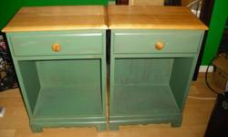 In Very Good Condition Has 1 Drawer ea & Storage Under If Interested Call me at 250-591-6098 Or Email