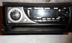 I have a panasonic cd player for a vehicle for sale.The front flips down to insert cd.Got a new car with a cd already built in so don't need this one. Told the hubby time to clean out house I'm redecorating.   Asking $50.00