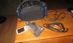 panasonic camcorder with 30x zoom, telephoto lens all wiring and chargers, this unit requires the mini recordable tapes,and has barely been used since new, asking 350 obo contact Ben at 705 380 0318 or email