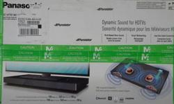 Brand new in sealed box. Product Info: Panasonic Soundbar Enhanced Sound with Space Saving 2.1 Channel Design feature The SC-HTE180 Speakerboard fits under your HDTV and its compact body has two Front Speakers, two Subwoofers and two Aero Stream Ports for