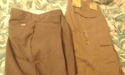 dickies sz38 x 30 never been weared,denver hayes sz 36 x 32 new alsopockets on legs as well10$  each make nice xmas gifts