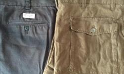"""New Old Navy Khakis black pants size 38"""" X 32"""" and Old Navy brown pants size 38"""" X 30"""". $5 each pair."""