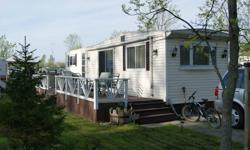 NEW PRICE-  everything included in this very clean trailer. has 1 bedroom with wall to wall closets. Full size bathroom with marine toilet (uses less water) full size tub with shower. Has a queen pull out couch in the livingroom. Kitchen has table and