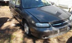 parting out this complete car before it gets crushed 2000 chevrolet malibu 4 door 3.1l auto if you are interested in any parts off this call 456 4903 parts are very cheap last time putting up before it gets crushed