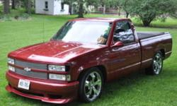 Have a sweet billet grille, head lights, tail light, doors, box, windows, windshields, bumpers, tail gate etc. Also have a supercharged 383 stroker motor (click view posters other ads for more details) Race seats, touch screen sound system, 20 inch rims,