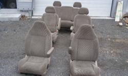seats asking $10.00 each or all 5 for $30.00 seat stands for front seats $5.00 Glove box assembly asking $3.00 Gas and brake pedal assembly $5.00 Rubber mats for interior floors $5.00 for the set. Sunvisors with mirrors $5.00 for a pair interior side