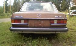 1977 300D.Unfinished project car,has completely rebuilt engine and cylinder head.Injectors were done,new glow plugs,etc.Body has small amount of rust.Would make an excellent parts car or project.Drives well and has clean reg.Asking less than the wholesale
