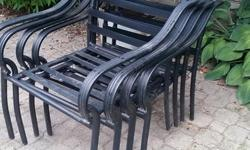 Patio Table, Patio Chair Frames . You will need to acquire or buy chair cushions. The umbrella in photo is NOT included.