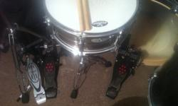 Barely played, Need money for a few select things, cant play the drums where i live in town. drums brand new 2000$ w/ tax +Pearl Eliminator Pedals 500$+ w/ Travel case. NOT Doing trades, Room for slight negotiations.