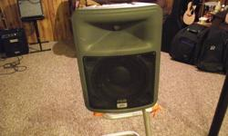 Peavey PR 10 Speaker. 8 ohms Max 400 watt program. 14 HF Driver Protection. Can be used as a monitor as it lays down, or hung or put on a stand as a speaker. If interested please call Glen at 613-928-2817