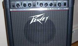 PEAVEY BLAZER 158 TRANSTUBE SERIES AMPLIFIER! - 15''W x 16 3/4''H x 11 1/4''D - 15 Watts - 8 inch super-duty Blue Marvel speaker - 2 switchable channels - clean & lead - Modern and vintage voicing switches - 3 band EQ - Reverb with level control - Tape/CD