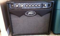 Peavy Vypyr 15 amp. Clean/OD Channels 12 amps to chose from 16 user presets Tremolo Chorus Env Filter Slap back Flanger Tube Screamer Bypass Octaves Phaser Rotary Speaker Reverse Pitch Shifter Aux input Headphones/Record out Mint Condition - Bought it