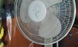 I have 3 pedestal fans and 2 desk or table top fans, all are white and in excellent condition except one which is missing the cover. I am asking $20 for each , and $15 for the one missing the cover. ***UPDATE*** the only fan I have left is the one with