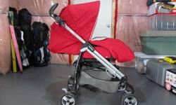Colour: Red and Grey 2009 (used for 1 year only) Travel system compatible means that our Primo Viaggio SIP Primo Viaggio SIP car seat (not included) attaches easily to the chassis for the convenience of moving baby from home to car to stroller and back