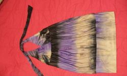 Asking $25 or best offer !! Tie dyed purple, black and beige Size Large Halter, band on bottom and low back Perfect for any summer, dance, evening out or party !