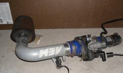 AEM Performance cold air/ throttle body intake. Includes K&M air filter Was on a 2001 Dodge Neon 2.0 May fit other models Also spare headlight assemblys available $100 for all Make an offer