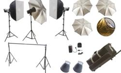 Professional Photo/Video Studio Equipments (Cash Deals, No HST, Standard Warranty, No Bargaining Pls)   (Find a lower price, we'll beat it!)   Order online or pick it up from two locations below (By Appointment Only):   3612A Dufferin St (near Yorkdale