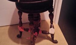 DIY Piano Stool Project nees to be rebuilt all pieces are present including fish feet. Seat needs re glueing and all joints need reattaching. Asking $30obo. Check out my other ads too.