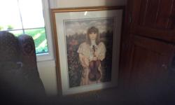 Artist Chantal Poulin Paid $300 Mint Condition 31x42 Also see my other ads