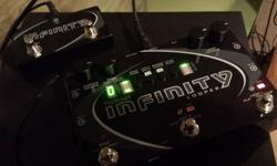 pigtronix infinity looper pedal includes power supply and separately purchased remote switch. in excellent condition - looks like new, used only as desktop equipment, midi synced with a synth.. (so no foot stomping wear). still has box / packaging in