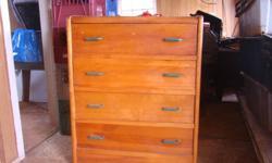 Pine dresser in good shape- drawers slide well - $55