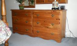 """66"""" long x 31'' high solid pine dresser in excellent condition"""