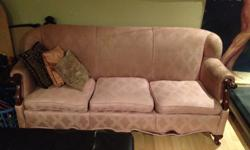 You must be able to take the couch away. We will not deliver. We will offer to transfer the couch to your van/truck. This couch has scuff marks and some surface marks/stains. No major rips. Overall the couch is sturdy and intact. We are non-smokers and a