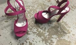 Brash pink suede heels. $5. - Used only a couple of times and in really good shape I have some other items for sale also. You can check them out at www.facebook.com/forsalegadgets4u
