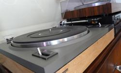 Hi, this is a wonderful looking, fully functional, made in Japan, Pioneer PL-112D Turntable. The dust cover and hinges are in fantastic shape, it Is solid and heavy, has a ground wire, and the cartridge and stylus sound great. I just installed a new belt