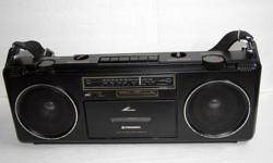 Pioneer SK-200 Vintage Boombox Radio Cassette Very rare Pioneer SK-200 boombox for sale. Unique small model. Tape deck DOES NOT WORK but the radio does. Has aux-in RCA's as well. 18 x 6.5 x 3.5 Asking $20