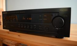 The Pioneer VSX D307 is a 4 channel audio video receiver that features 100 watts of power per channel with a frequency response of 40 Hz to 20 kHz. It has an impedance of 8 Ohms as well. This Pioneer receiver offers support for virtual Dolby surround
