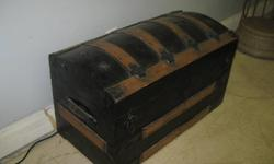 very old trunk for sale, can be used as toy box or storage or treasure chest for the young pirate in the family. measures 30x15-1/2x17-1/2 high. call 519 420 1830