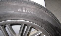 Pirelli 210 Snow Sport Tires (245/50 R18) used for only one season. The tires are mounted on BMW Replica Wheels which were used on a 2008 BWM 750Li (Long Wheel Base.) There is very little to no curb rash on the wheels themselves and the car was used